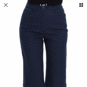 Dolce and Gabana checkered blue jeans